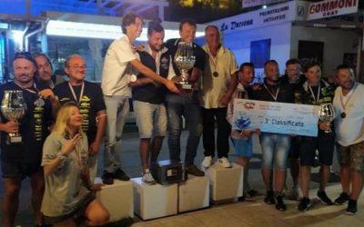 L'equipaggio del Circolo Ippocampo 3° classificato al Trofeo Del Duca svoltosi a Vieste
